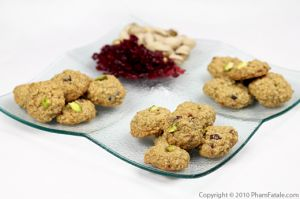 Cranberry Oatmeal Cookies with Pistachios
