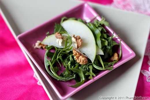 Rocket Salad with Granny Smith Apples (Mixed Green Salad Recipe) Recipe