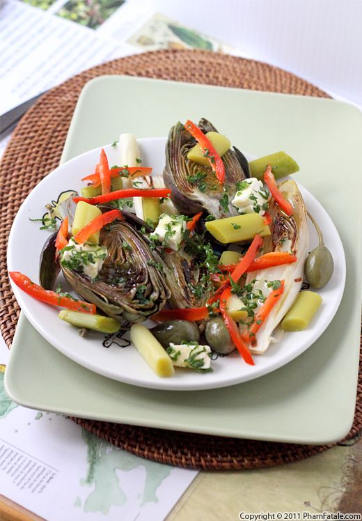 Grilled Artichoke and Endive Salad Recipe Recipe