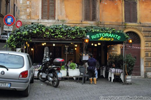 Mario's Ristaurante Rome Italy Photo