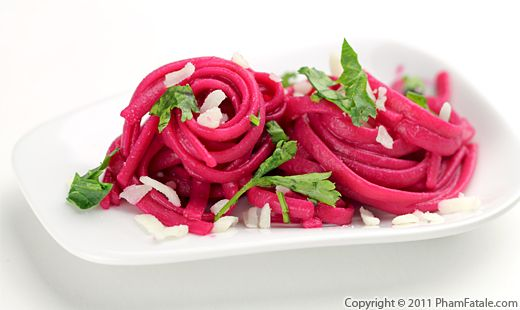 Linguine Pasta in Beet Sauce Recipe