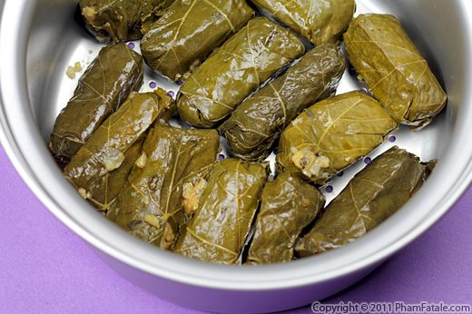 Meat Dolmades (Stuffed Grape Leaves Recipe) Recipe