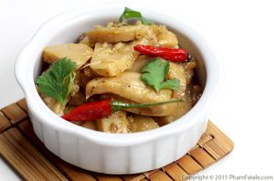 King Mushrooms in Pineapple Sauce