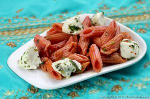 Beet Marinara Pasta Sauce with Mozzarella