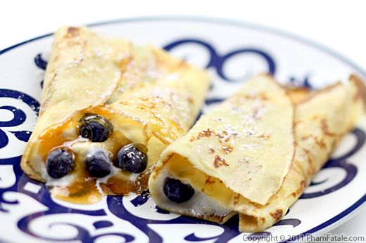 Blueberry Crepe Recipe  Recipe