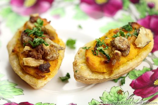 Pumpkin and Goat Cheese Tartlet Appetizers Recipe