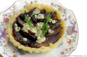 Portobello Mushroom Blue Cheese Tart Recipe