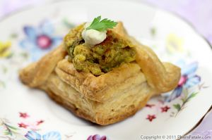 Indian Style Eggplant Appetizers (Baigan Bharta Puff Pastry Recipe)