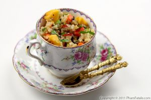 Cold Rice Salad with Papaya