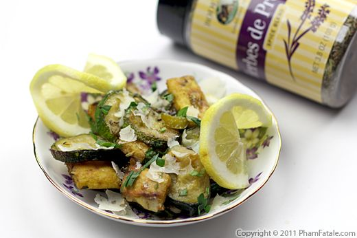 Zucchini with Parmesan and Croutons Recipe