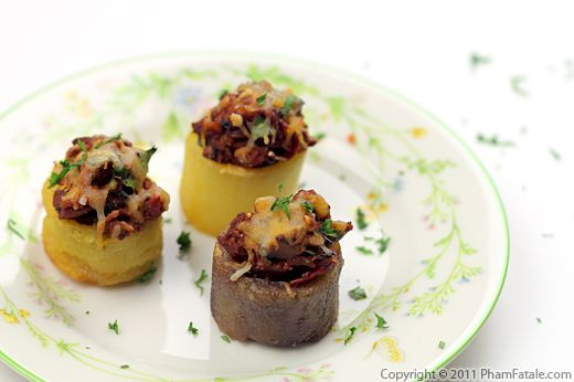 Stuffed Potato Appetizers (Bolognese Potatoes) Recipe