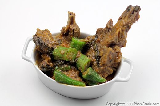 Korma Curry Recipe: Goat Meat with Okra Recipe