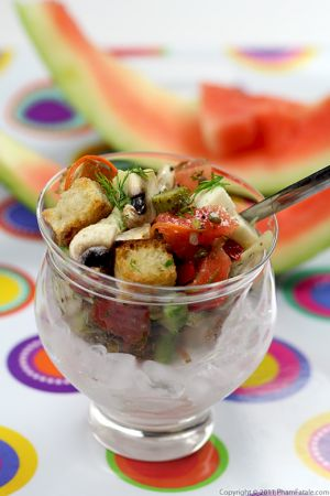 Watermelon Panzanella Recipe (Summer Salad)