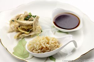 Vietnamese Chicken Rice with Ginger Fish Sauce
