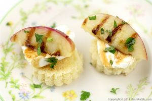 Grilled Nectarine and Goat Cheese Appetizer Recipe