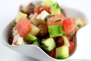 Watermelon Feta Salad with Jicama