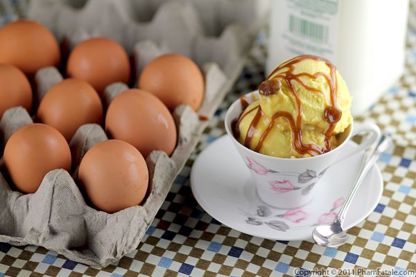 Goat Milk Ice Cream with Molasses Syrup Swirl Recipe