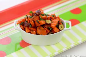 Brown Butter Glazed Carrots with Toasted Hazelnuts