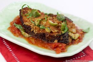 Turbot Fish in Tomato Sauce (Breaded Fish Recipe)