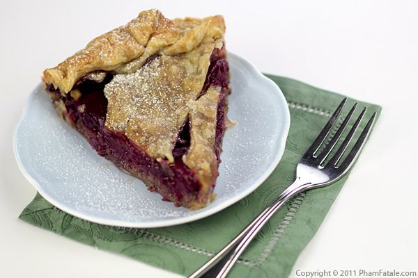 Hazelnut Plum Pie Recipe (Tarte aux Prunes) Recipe