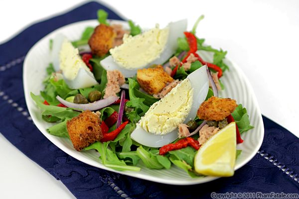 Tuna Nicoise Salad with Goose Eggs Recipe