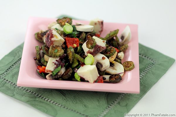 Fried Okra Salad Recipe Recipe