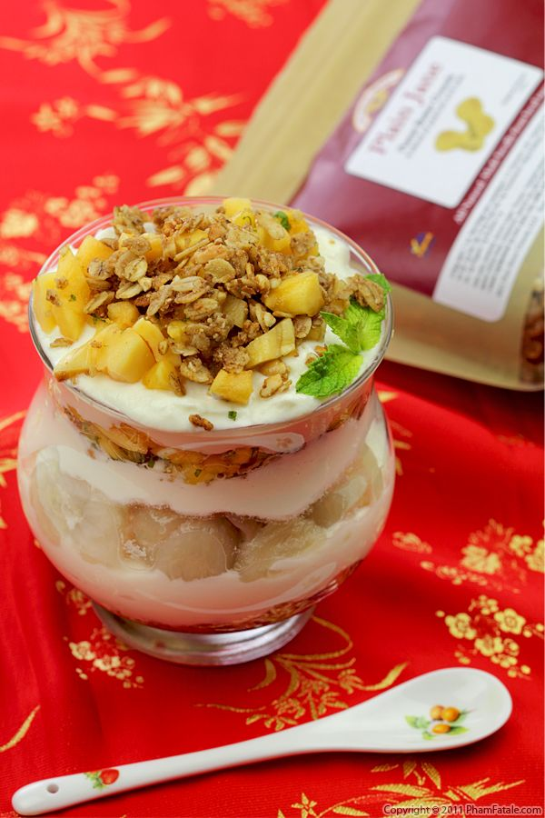 Granola Parfait Recipe (with Jackfruit and Mangosteen) Recipe