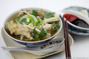 Pho Ga Recipe (Vietnamese Chicken Noodle Soup with Ginger)