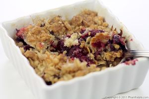 Plum Crumble Recipe (Oatmeal Crisp)