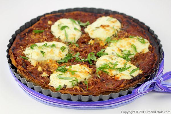 Mushroom Cheese Tart (Savory Tart Recipe) Recipe