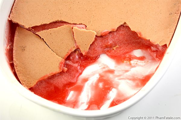 Strawberry Brownie Pudding Recipe with Picture