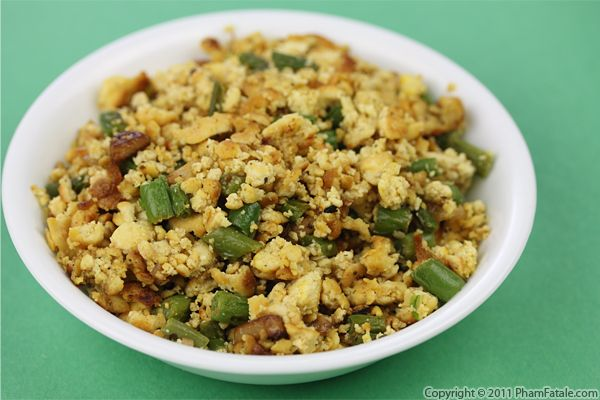 Tofu Scramble Recipe with Green Beans Recipe