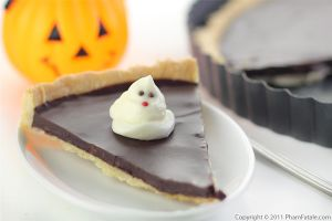 Chocolate Ganache Tart (Halloween Ghost Dessert)