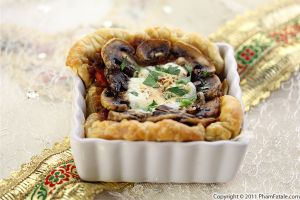 Mushroom Mozzarella Cheese Tart Recipe