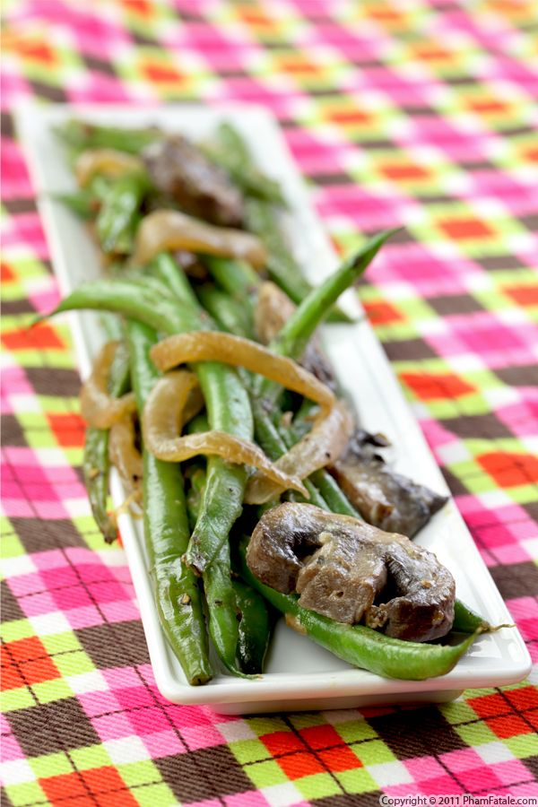 French Green Beans with Baby Bella Mushrooms Recipe