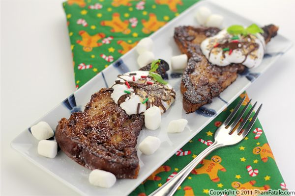 Chocolate French Toast Recipe (Pain Perdu) + Giveaway Recipe