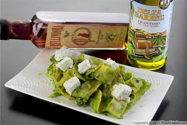 Mache Pesto Pasta Recipe Recipe