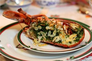 Roasted Lobster with Almonds