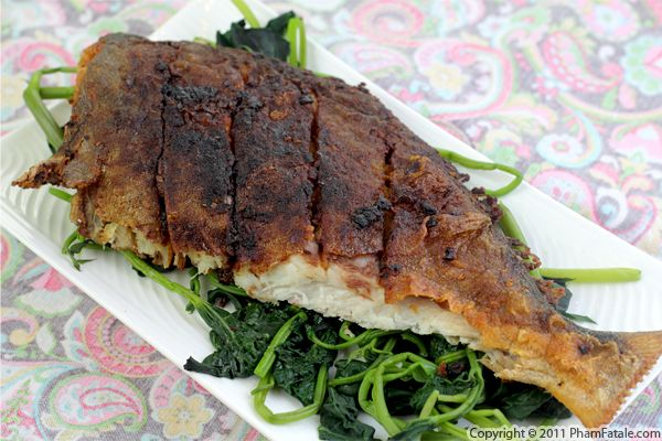 Deep-Fried Fish with Lemongrass Recipe