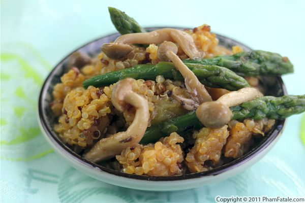 Quinoa with Asparagus and Mushrooms Recipe