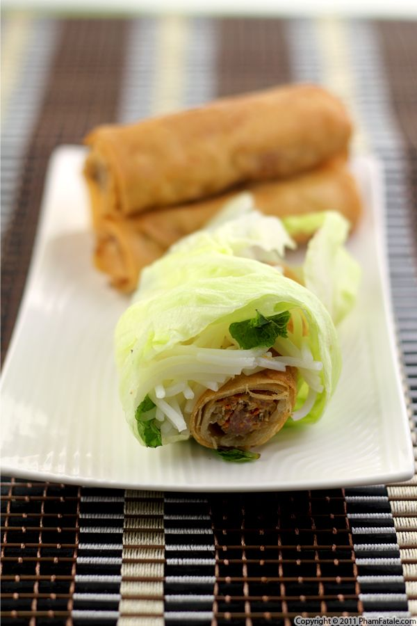 Chicken Eggrolls (Cha Gio Recipe) Recipe