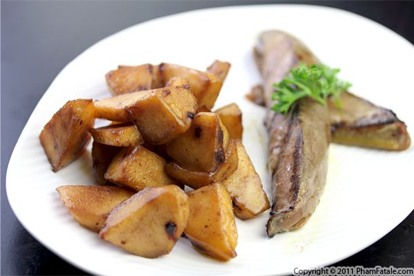 Foie Gras Poele with Granny Smith Apples Recipe