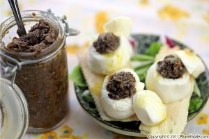 Tapenade Stuffed Mozzarella Cheese Appetizers