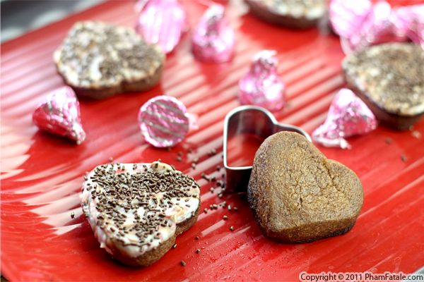 Chocolate Raspberry Cookie Recipe (Heart-Shaped Cookies) Recipe