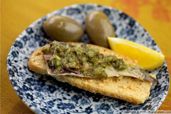 Sardines with Sauce Verte Recipe
