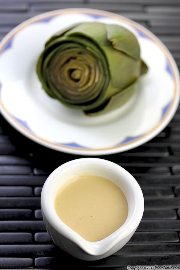 Sauce for Steamed Artichokes (Tofu Dressing Recipe) Recipe
