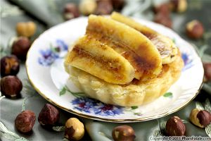 Caramelized Banana Tartlet with Hazelnut Cream Recipe with Picture