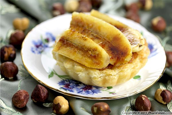 Caramelized Banana Tart with Hazelnut Cream Recipe