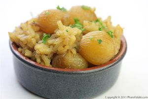 Onion Curry Risotto Recipe (Fusion Dish)