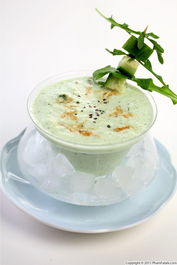 Cold Cucumber and Arugula Soup Recipe Recipe